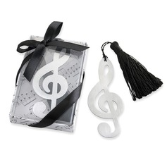 """Timeless Duet"" Brushed-Metal Openwork Bookmark"