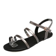 Kvinner Patentert Lær Flat Hæl Sandaler Flate sko sko