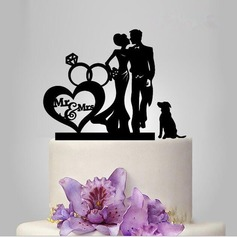 Double Hearts Acrylic Cake Topper