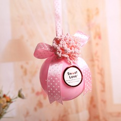 """Sweet Love"" Ball Favor Boxes With Ribbons"