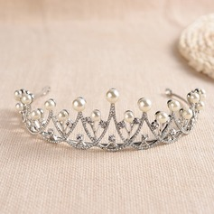 Ladies Special Crystal/Alloy/Imitation Pearls Tiaras With Venetian Pearl/Crystal (Sold in single piece)