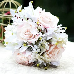 Graceful Free-Form Satin Bridal Bouquets -
