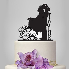 "Personalized ""Mr. & Mrs.""/Happy Couple Acrylic Cake Topper"