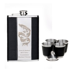Personalized Dragon design Stainless Steel Flask