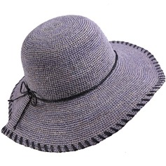 Ladies' Lovely/Fashion Raffia Straw With Bowknot Straw Hat