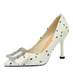 Women's Fabric Others Pumps With Rhinestone Bowknot shoes