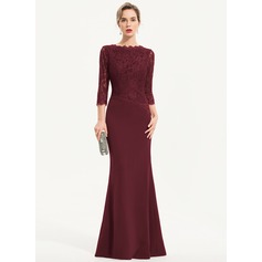 Trumpet/Mermaid Scoop Neck Floor-Length Stretch Crepe Evening Dress