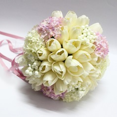 Sweet Ribbon/Artificial Silk Bridal Bouquets -