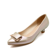 Women's Leatherette Low Heel Pumps Closed Toe shoes