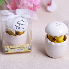 Cute Animal Ceramic Salt & Pepper Shakers With Ribbons