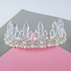 Ladies Beautiful Crystal/Imitation Pearls Tiaras