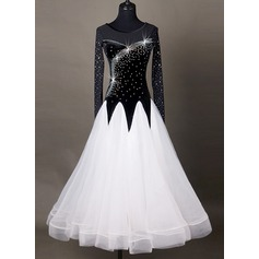 Women's Dancewear Chinlon Organza Latin Dance Dresses