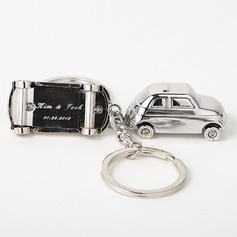 Personalized Car Design Zinc Alloy Keychains (Set of 4)