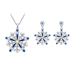 Flower Shaped Alloy/Crystal With Crystal Ladies' Jewelry Sets
