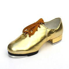 Unisex Leatherette Flats Tap Dance Shoes