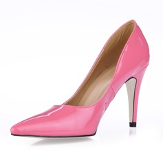 Patent Leather Stiletto Heel Closed Toe Pumps (085017484)