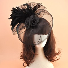 Ladies' Vintage Organza With Feather Fascinators/Kentucky Derby Hats/Tea Party Hats
