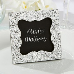 Deep Black Resin/Card Paper Photo Frames With Acrylic Diamond