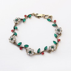 Romantic Flowers Alloy With Rhinestone Ladies' Bracelets