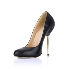 Leatherette Stiletto Heel Pumps Closed Toe shoes (085022620)