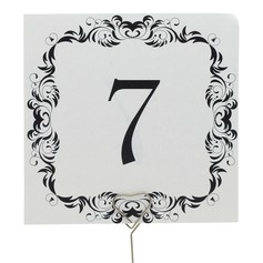 Pretty Pearl Paper Table Number Cards