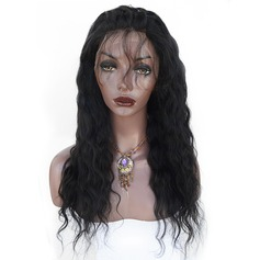 4A Non remy Water Wave Human Hair Full Lace Cap Wigs