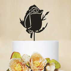 Flower Shaped Acrylic Cake Topper