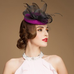 Ladies' Gorgeous Wool/Net Yarn With Imitation Pearls Fascinators