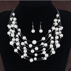 Exquisite Alloy With Imitation Pearl Jewelry Sets