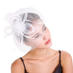 Dames Beau Feather/Fil net avec Feather Chapeaux de type fascinator/Chapeaux Tea Party