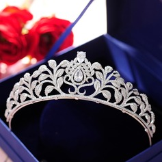 Ladies Beautiful Alloy Tiaras With Cubic Zirconia (042129259)