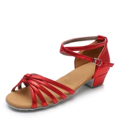 Women's Leatherette Latin With Buckle Dance Shoes (053208550)