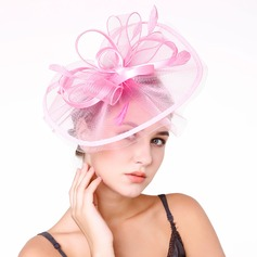 Ladies' Nice Feather/Net Yarn With Feather Fascinators