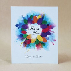 Personalized Floral Design Hard Card Paper Thank You Cards