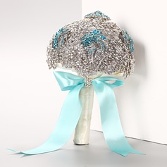 Attractive Round Rhinestone Bridal Bouquets