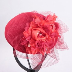 Ladies' Beautiful/Classic Wool With Silk Flower Fascinators