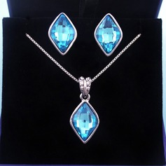 Fashional Alloy Glass Ladies' Jewelry Sets