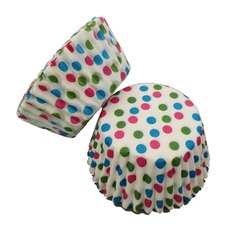 Polka Dots Pattern Pearl Paper Cupcake Wrappers