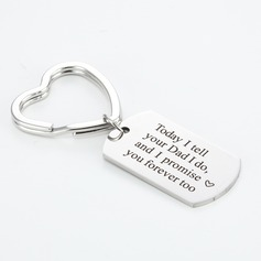 Classic Heart Design Stainless Steel Keychains