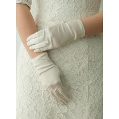 Satin Wrist Length Bridal Gloves (014125681)