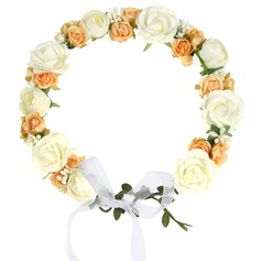 Rose Ribbon Headdress Flower -
