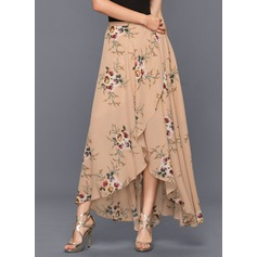 A-Line Asymmetrical chiffon Cocktail Skirt