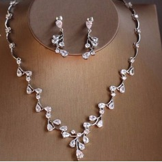 Exquisite Zircon Ladies' Jewelry Sets