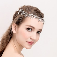 Ladies Elegant Crystal/Imitation Pearls Headbands