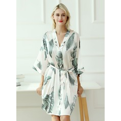 Charmeuse Bride Bridesmaid Floral Robes (248178686)