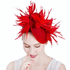 Ladies' Gorgeous/Fashion/Glamourous Cambric With Feather Fascinators/Kentucky Derby Hats
