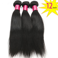 12 inch 8A Grade Brazilian Straight Virgin human Hair weft(1 Bundle 100g)
