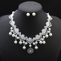 Beautiful Imitation Pearls Lace With Imitation Pearl Lace Ladies' Jewelry Sets