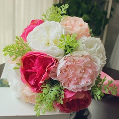 Fascinating Free-Form Satin Bridal Bouquets -