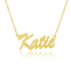 Custom 18k Gold Plated Nameplate Name Necklace (288211343)